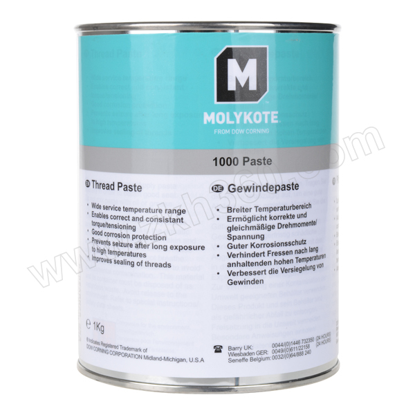 MOLYKOTE/摩力克 通用型螺纹油膏 1000 褐色 1kg 1罐