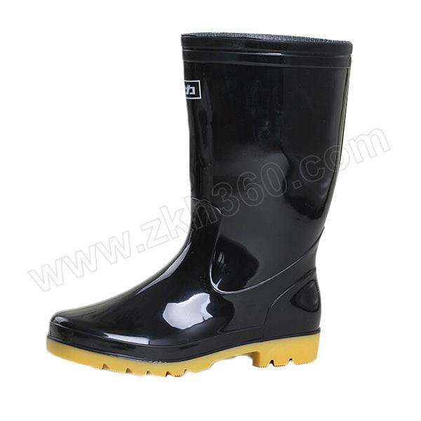 HUILI/回力 男款黑色中筒雨靴 807 41码 1双