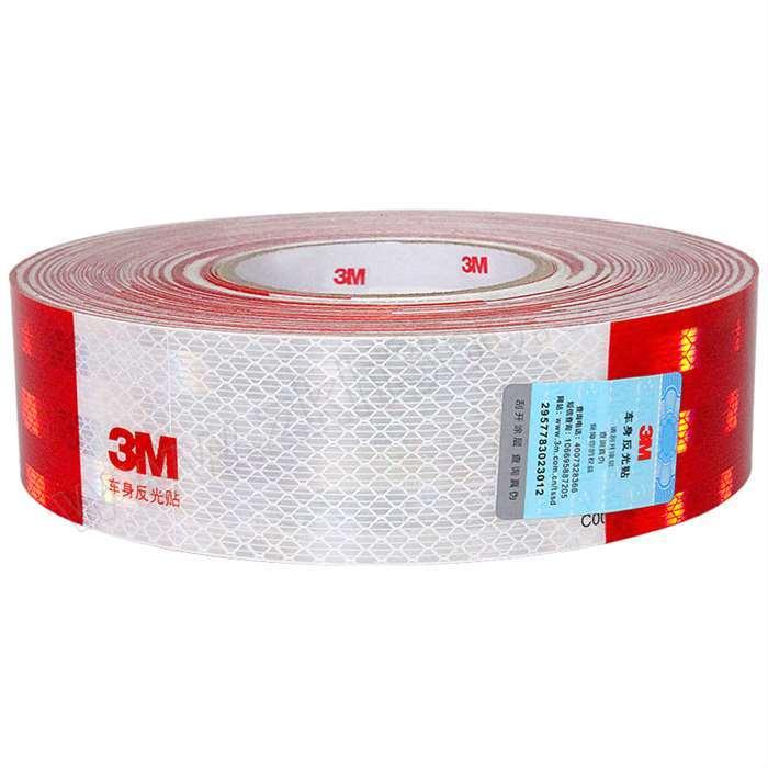 3M 车身反光贴 983D 红色+白色 50mm×45.7m 150片 1卷